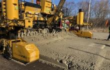 Final Concrete Pavement Placement Algonquin Road