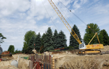Concrete Pour Retaining Wall