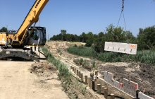 Retaining Wall North Side of Randall