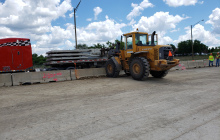 Retaining Wall Panel Delivery