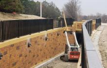 Pedestrian Underpass Railing Installation