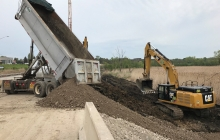 Excavation for Retaining Wall