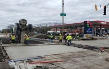 Driveway Entrance Concrete Pour