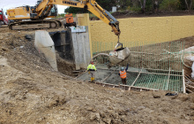 Wingwall Footing Pour